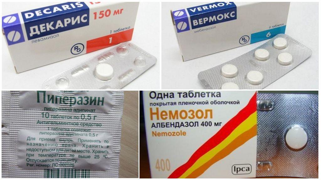 Препараты для лечения аскаридоза