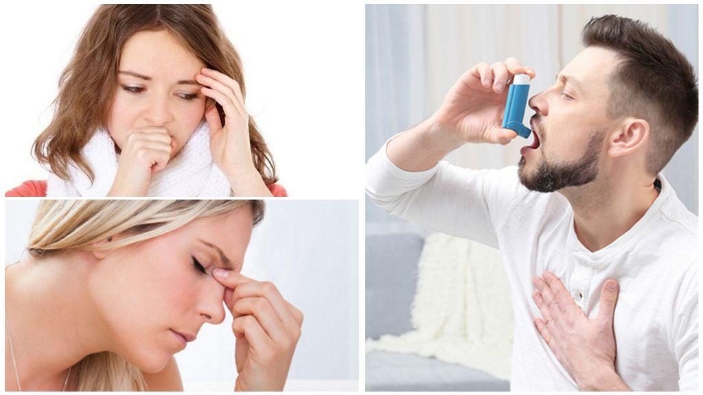 Симптомы поражения дыхательной системы паразитами