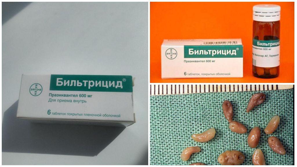 Бильтрицид от паразитов в печени