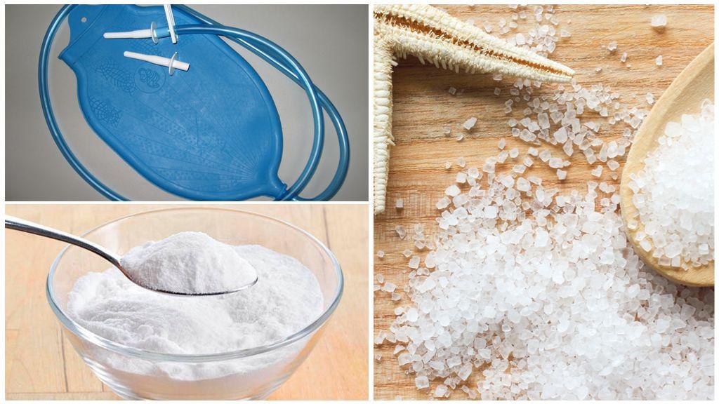 Очистительные клизмы с солью и содой