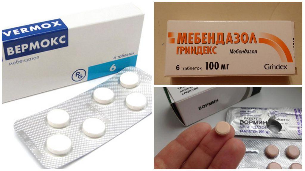 Препараты: Мебендазол, Вормин, Вермокс