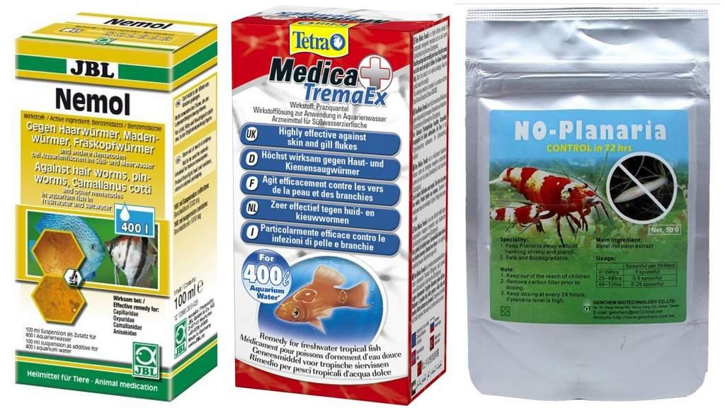 Препараты от нематод в аквариуме