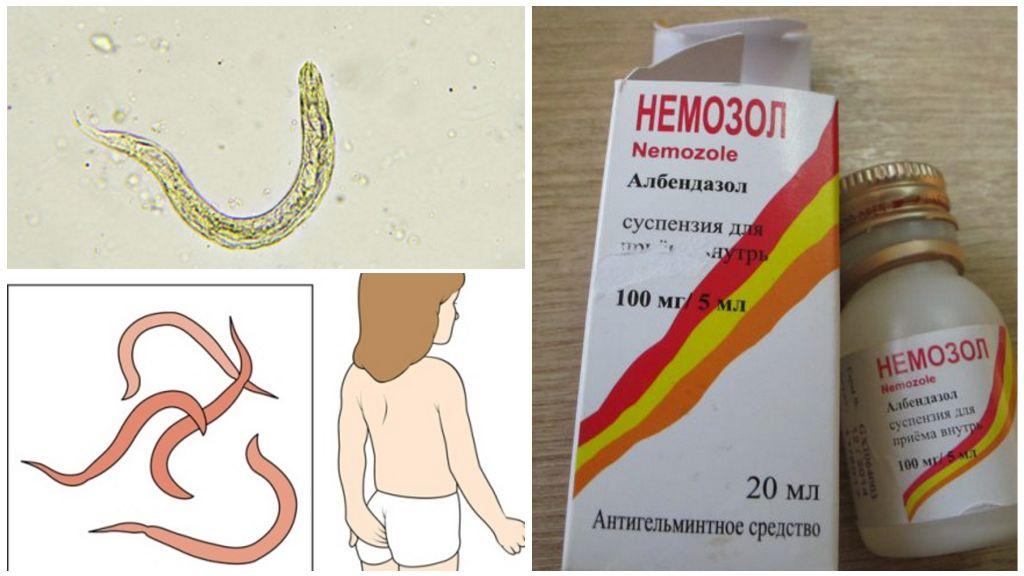 Суспензия Немозол для детей