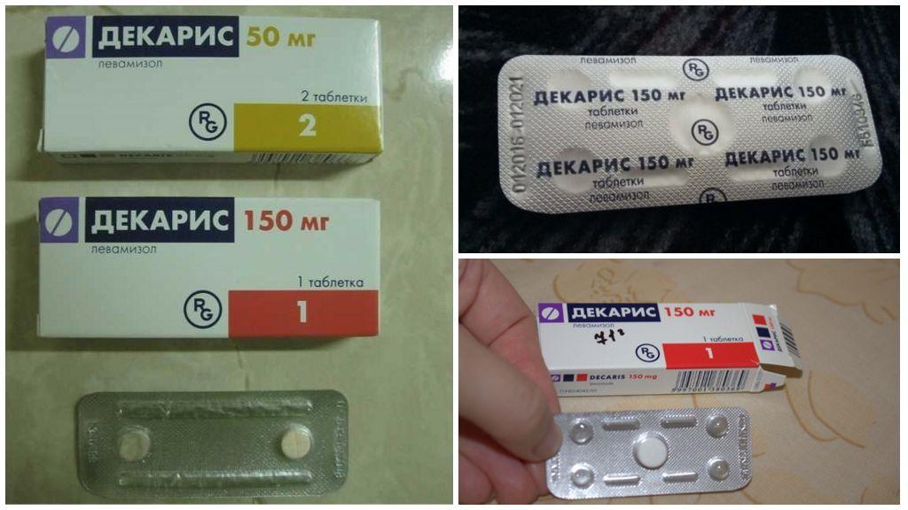 Таблетки Декарис от глистов
