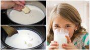 Молоко с чесноком для детей