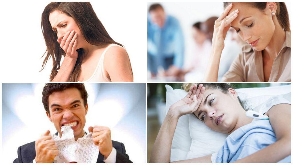 Симптомы присутствия паразитов
