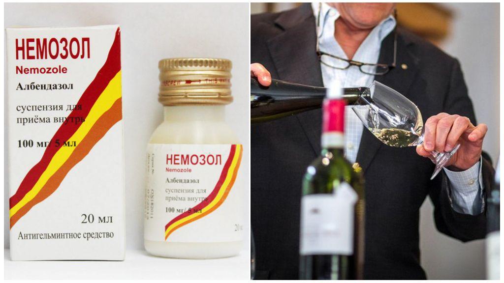 Совместимость Немозола с алкоголем