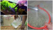 Промывание аквариума