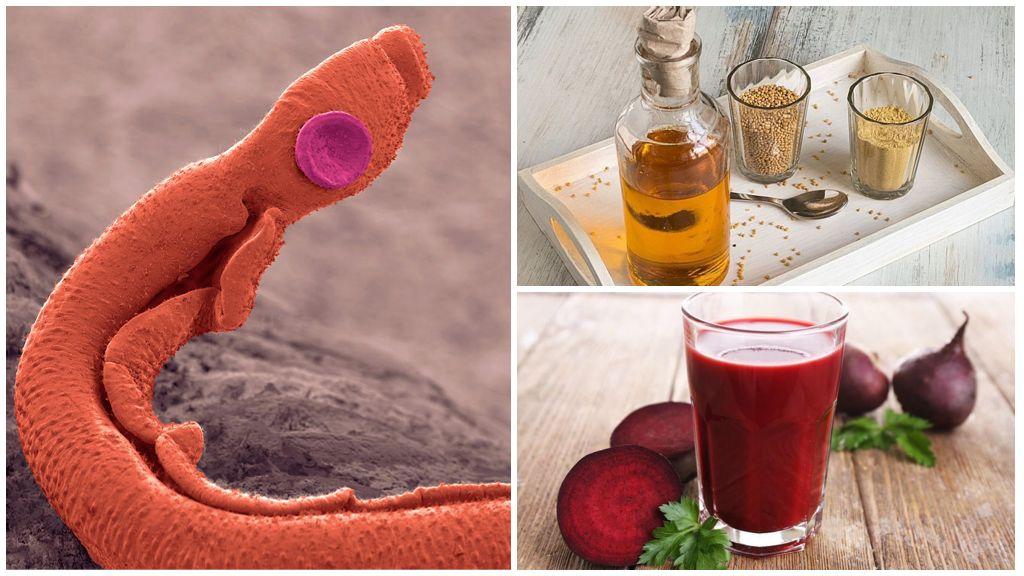 Сок свеклы и горчичное масло от шистосомоза